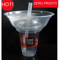 500ml Plastic Disposable Smoothie Cups For Milky Tea , Popcorn Bowl 1000ml