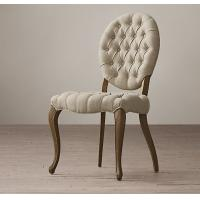 Wholesale Solid Oak Frame Fabric Dining Chair With Cabriole Front And Splayed Back Legs from china suppliers