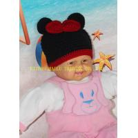 Wholesale Mickey Mouse Head Shape Black Knitted Girls Crochet Hats 100% Acrylic Material from china suppliers