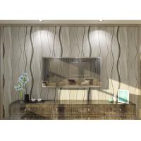 Quality Curve Line Design Gray Modern Removable Wallpaper  for TV Background 0.53*10M for sale