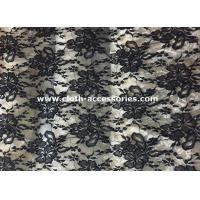 "Wholesale 50"" Decorative Extra Wide Nylon Lace Fabric Black For Wedding Dresses from china suppliers"