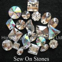 Wholesale Sew on Clear crystal stones Flat Back Sew on Glass Beads for Shoe Ornanment from china suppliers