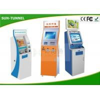 Quality 22 Inch Indoor Multi Touch Self Service Kiosk Free Standing High Brightness for sale