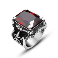 Wholesale Cool Women 316 Stainless Steel Rings With Stones , Red Stone Vintage Engagement Rings from china suppliers