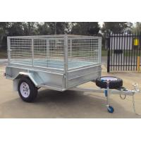 Quality Heavy Duty Hot Dipped Galvanized Caged Trailer Single Axle for sale