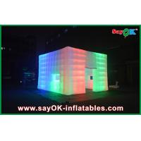 Wholesale 210D Nylon Cloth Giant Rainbow Led Inflatable Tent With Window / Door from china suppliers