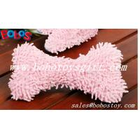 Wholesale 100%Polyester Material Soft Plush Pink Bone Toy With Squeaker from china suppliers