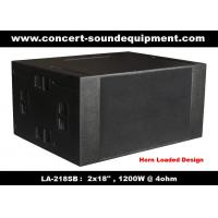 "Wholesale 4ohm 1200W Concert Sound Equipment  2x18"" Horn Loaded Subwoofer For Concert , Disco And Nightclub from china suppliers"