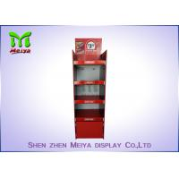 Wholesale Recycled Cocktail Pop Custom Cardboard Displays , Red Free Standing Cardboard Displays from china suppliers