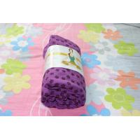 Wholesale purple anti slip yoga mat towel from china suppliers