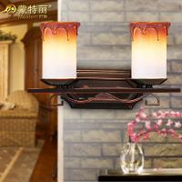 Wholesale Decorative Candle Blown Glass Shade Bathroom Over Mirror Lights with Double Light from china suppliers