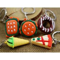 Wholesale Promotion Soft PVC Cookies Shaped Decoration Keyrings/ Keychain from china suppliers