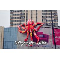 Wholesale Super Large Red Inflatable Octopus Model for Roof and Building from china suppliers