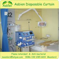 Cubicle privacy medical curtain with antibacterial