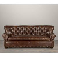 Wholesale Elegant Antique Style real leather sectional living room furniture 244*96.5*94cm from china suppliers