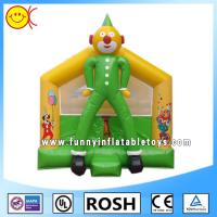 Wholesale OEM Clown Inflatable Combo Bouncers Commercial Jumping Castle Green Yellow from china suppliers