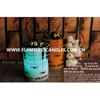 Wholesale Multi Color Halloween Decoration LED Flickering Flameless Candles With Black Spider from china suppliers