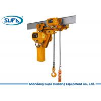 China Super Low Type Electric Chain Hoist 380V / 220V Voltage Lifting Height 3 - 10m on sale