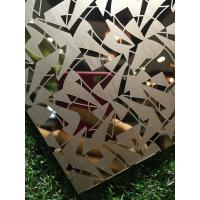 Wholesale Titanium coated decoraive pattern stainless steel metal sheet for hotel lobby wall panels from china suppliers