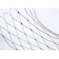 Wholesale 7 X 7 Wire Rope Netting , Stainless Steel Rope Mesh For Aviary Zoo Enclosure from china suppliers