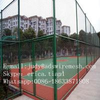 Wholesale (50*50MM 100*100MM)Galvanized  Chain Link Fence (Manufacturer ISO9001 ) from china suppliers