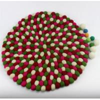 Wholesale eco friendly handmade wholesale wool felt ball coaster DIY for home decoration from china suppliers