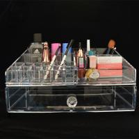 Wholesale acrylic Makeup Drawer Box, Flip Cover Acrylic Cosmetic Storage Boxes from china suppliers