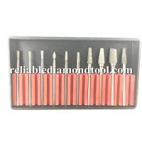 Wholesale Tungsten Steel Dental Carbide Burs Lab Tooth 45mm Drill Bit 10 PCS / Set from china suppliers