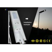 Quality All In One Solar powered street light 8m Height Smart Control Bridgelux for sale