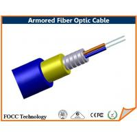 Wholesale OFNR Flame Ratings Duplex Armored Fiber Optic Cable , 50 / 125 um Multimode from china suppliers