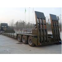 Wholesale Green Red Low Bed Semi Trailers With Hydraulic Mechanical Suspension from china suppliers