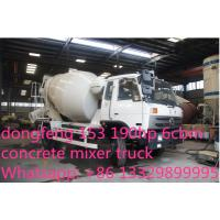 Wholesale dongfeng 153 190hp 6cbm 4*2 small concrete mixer truck for sale from china suppliers