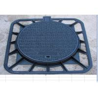 Buy cheap Cast iron manhole cover, piceous from wholesalers