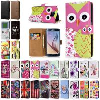 Wholesale Printed Flip Folio PU Leather Smartphone Protective Case Wallet For Samsung Galaxy S6 from china suppliers