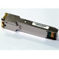 Wholesale 1000Base-T Only SFP Copper Transceiver , with 1Gbps SerDes interface Industrial Temp from china suppliers