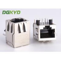 Quality Right Angle 10 / 100 BASE RJ45 modular Jack with transformer Ethernet Cable Connector for sale