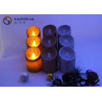 Wholesale Smooth Surface Moving Flame Led Candles Gold / Yellow / Silver Color Available from china suppliers