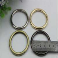 Wholesale Design hanging plating gold 1.5 inch metal wire iron o-ring buckles for backpack from china suppliers