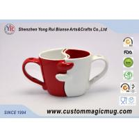 Wholesale Fashion Novelty Porcelain Couples Coffee Mugs , Heat Sensitive Magic Mug from china suppliers