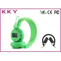Wholesale Green Noise Cancelling Stereo Bluetooth Around Ear Headphones With LED Display from china suppliers