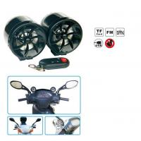 Quality Waterproof Motorcycle Audio System With FM Radio/AMP/USB/TF CARD/AUX IN/ALARM/LED Light/Wireless Remote for sale