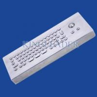Quality Brushed Stainless Steel USB Interface Industrial Keyboard WithTrackball for sale