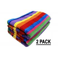 Wholesale Promotion Cotton Beach Towels Colorful Stripe Pattern With Soft Hand Feeling from china suppliers