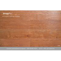 Wholesale E0 Office Amber oak Hand Scraped Laminate Flooring , commercial laminate floorings from china suppliers