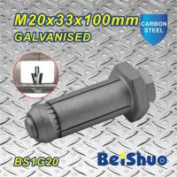 Quality M20 Carbon steel  Zinc plated Hot dip Galanised Expansion Steel Construction Fastener Fix Bolt for sale