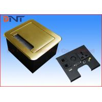 Wholesale Gold Tabletop Flip Up Power Outlet , Compact Manual Conference Table Power Outlets from china suppliers