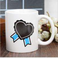 Wholesale Heart Morph Eco Friendly Mugs , Heating Color Change Magic Mug Printing from china suppliers