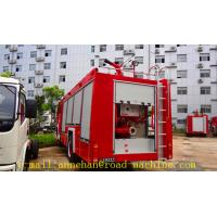 Wholesale 4 x 2 6m3 Sinotruk Howo Fire Fighting Truck Water Tank With Foam Tan Fire and Water cannons, ladder from china suppliers