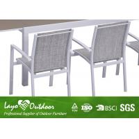 Outdoor Places Aluminium Extending Dining Table Sets With Glass In Table Top