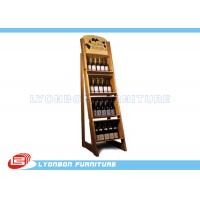 Wholesale Store Shop MDF Wine Display Stands Paint Finish , OEM Wooden Display Racks from china suppliers